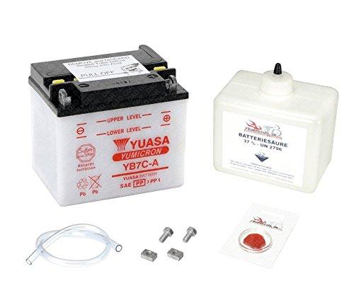 Preisvergleich Produktbild YUASA Batterie für Yamaha TW 125 Trailway (80 km / h),  1999-2001 (Typ DE01),  inkl. Pfand 7, 50