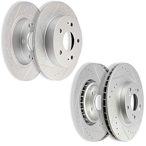 OCPTY Kit de rotores de Freno, Juego Completo de rotores de Freno Delantero y Trasero para Honda Civic Si…