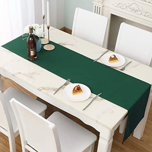 St Patrick s Day Table Runner 14x72 inch Large Dark Green Table Runner Thick Decorative Cloth product image