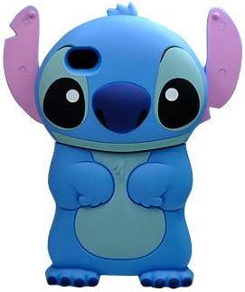 Coque Housse Etui en Silicone Pour Iphone 5 / 5S - Lilo & Stitch - Bleu