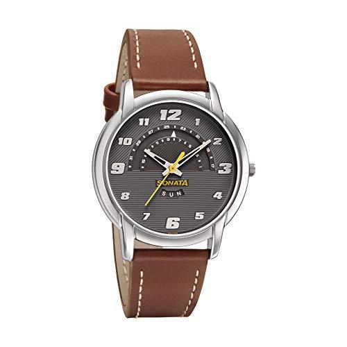 Titan Analog OffWhite Dial Men's Watch NM1712YM02 / NL1712YM02