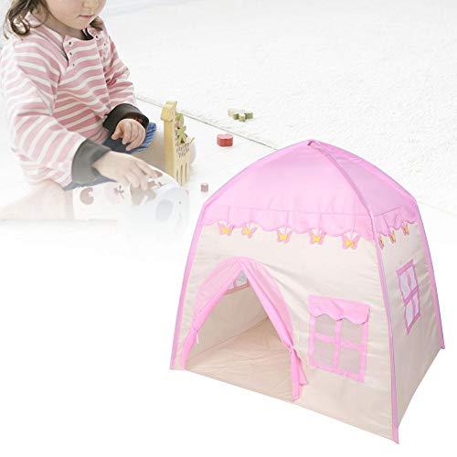 lyrlody Kinderzelt, Rosa Mädchen Prinzessin Spielzelt Babyzelt Kinder Zelt Spielhaus für drinnen und draußen 137 * 101 * 130cm