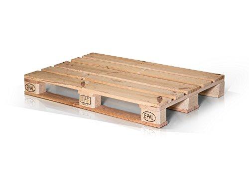 moebel-eins Europalette Flachpalette Palette Neuware Holzpalette 120x80 cm Natur