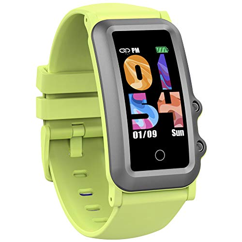 AUPALLA Pulsera de Actividad Niños, Reloj Inteligente Fitness Tracker con Podómetro, Pulsómetros, Monitor de Sueño, Contador de Caloría, 4 Modos Deportivos Smartwatch para Niñas y Niños (Verde)