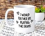 n\a preferirei suonare la batteria tazza regalo coffee mug idea regalo per batterista drum sticks musicista membro della band per lui suo mg0241 mugreeva mug