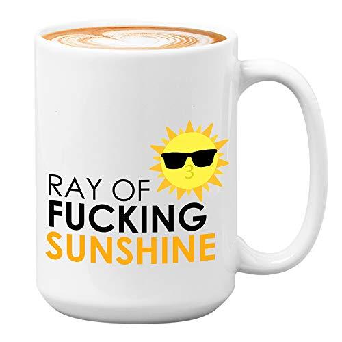 Ray of Sunshine Mug 15 oz Funny Coffee Mugs for Women Sarcasm, Sarcastic Mugs