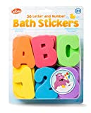 Tobar 29667 Badewannensticker, Schwamm mit Buchstaben und Zahlen, klebt im nassen Zustand an der Seite der Wanne oder an Badezimmerfliesen, ideale Lernhilfe für Kleinkinder, ca. 26 cm