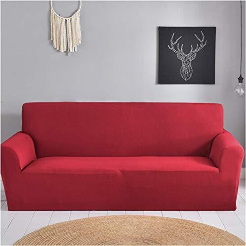 Wjwzl Sofabeset in Europese stijl, antislip, elastisch, voor huisdieren, mof, rood