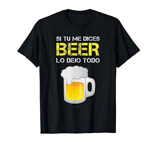 Hombre Camisetas Hombre Divertidas Manga Corta Beer Lo Dejo Todo Camiseta