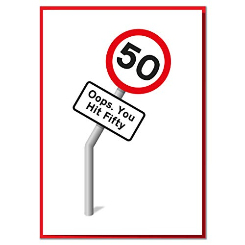Oops, You Hit 50. Funny Birthday Card