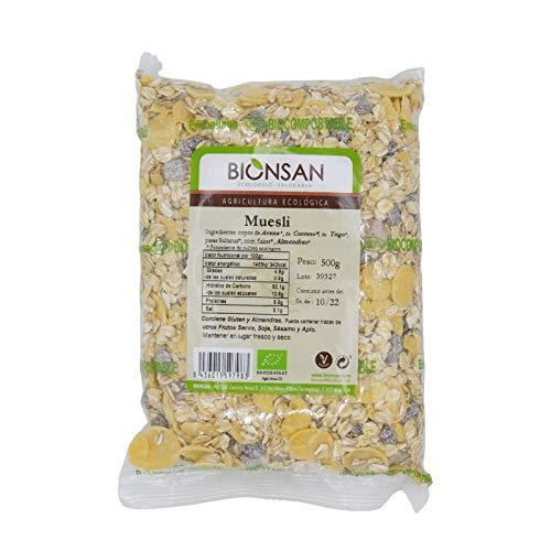 Bionsan Muesli Ecológico - 6 Bolsa de 500 gr - Total: 3000