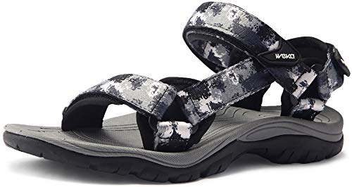 ATIKA Men's Outdoor Hiking Sandals, Open Toe Arch Support Strap Water Sandals, Lightweight Athletic Trail Sport Sandals, Maya(m111) - Cube Blue, 10