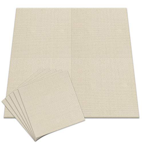 アイリスプラザ タイルカーペット 6畳 48枚セット カーペット ジョイントマット アイボリー 50×50 TKP-PP50
