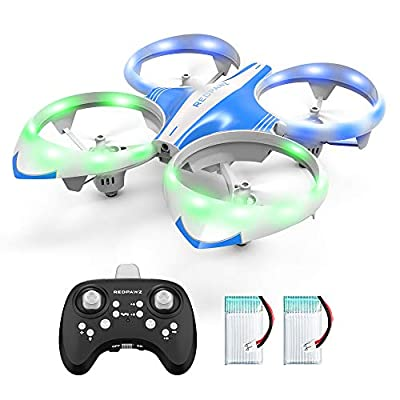 Mini Drone for Kids Adults - LED Mini RC Nano Helicopter 2.4G 6-Axis Gyro Drone for Kids & Beginners with Altitude Hold, Infrared Sensing, 3D Flips, RTF One Key Take Off?Landing Boys Girls Gift Toys