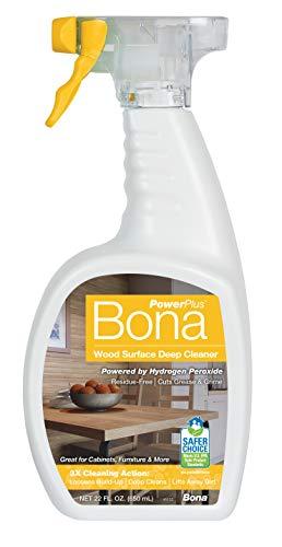 Bona PowerPlus Wood Surface Deep Cleaner, 22 Fl Oz (Pack of 1), Unscented