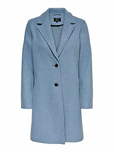 ONLY Damen Kurzmantel Carrie Bonded 15213300 kentucky blue melange XL