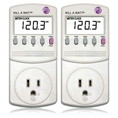 2 Pack P3 P4400 Kill A Watt Electricity Usage Monitor