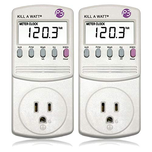 2 Pack P3 P4400 Kill A Watt Electricity Usage Monitor