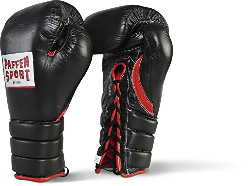 Paffen Sport PRO Guard Boxhandschuhe für den Wettkampf; schwarz/rot; 10UZ