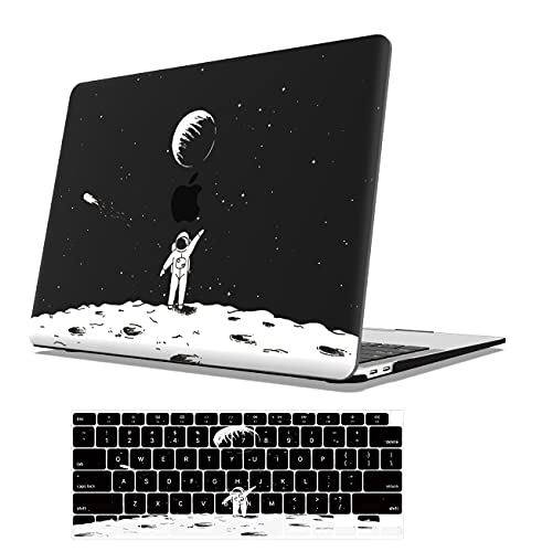 AOGGY Plastic Hard Case Compatible with MacBook Air 13 inch Case 2020 2019 2018 Version Model A2337 M1 A2179 A1932 with Retina Touch ID - Space Astronaut