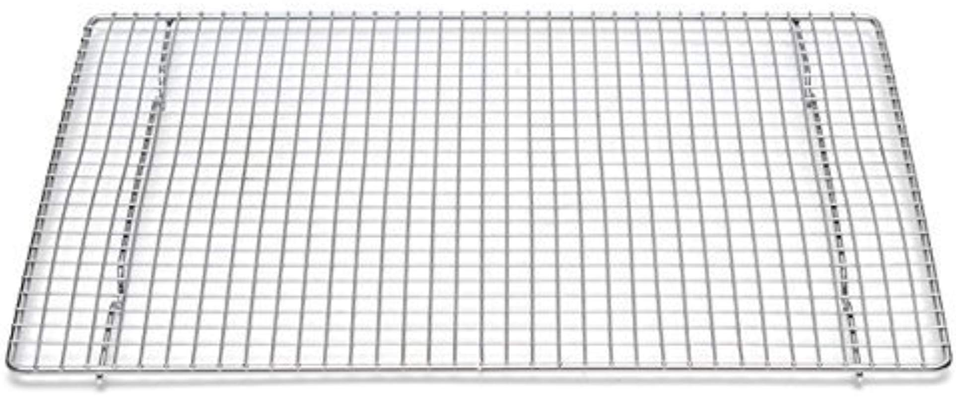 Professional Cross Wire Cooling Rack Half Sheet Pan Grate 16 1 2 X 12 Drip Screen 2 Pack