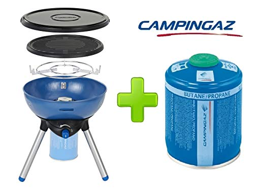 Campingaz gasfornuis voor Party Grill 200 Stove + 1 stuk gaspatroon CV470 470 g
