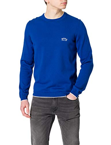 BOSS Herren Riston_S21 10230519 01 Pullover, Bright Blue438, XXL