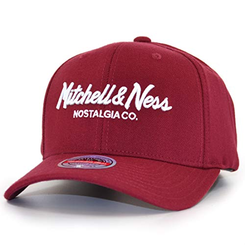 Mitchell & Ness Branded Pinscript Snapback - Gorra, color burdeos