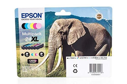 Epson original - Epson Expression Photo XP-760 (24XL / C 13 T 24384010) - Tintenpatrone MultiPack schwarz,cyan,magenta, gelb,Foto-cyan,Foto-magenta - 740 Seiten