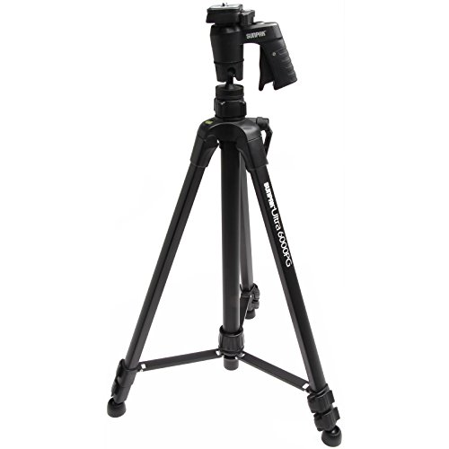 Sunpak 61' Ultra 6000PG PlatinumPlus Tripod with Pistol Grip Ball Head