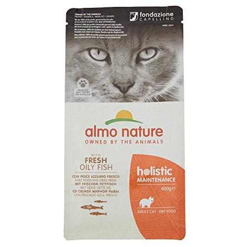 almo nature Holistic Cat Adult mangime Secco per Gatti Gusto Pesce e Riso gr.400
