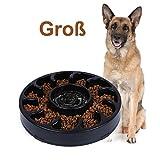 WERFORU rutschfeste Fressnapf, Langsam Essen Hundenapf für Grosse Hunde Umweltfreundlicher Langlebiger Ungiftiger Futternapf Interessanter Hund Schüssel (Schwarz, 9.84'*1.58')