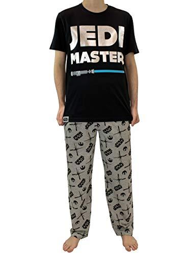 Star Wars Pijama para Hombre La Guerra de Las Galaxias Negro