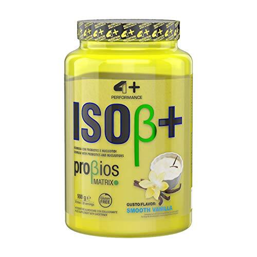 4+ NUTRITION - Iso β+, Integratore Sportivo, Proteine del Siero del Latte Isolate, Aumento di Energia, Resistenza e Recupero Veloce, in Polvere, Gusto Smooth Vanilla, 900 gr