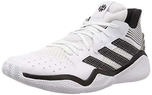 Adidas Harden Stepback, Zapatillas Deportivas Unisex Adulto, Blanc/Noir/Gris Silex, 44 2/3 EU
