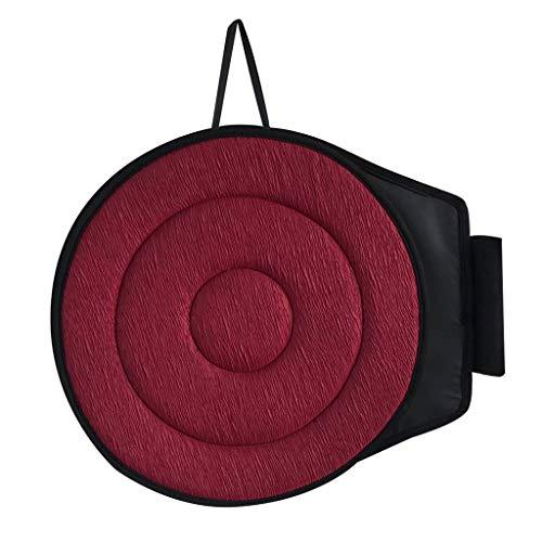 Fenteer Drehkissen Autositz Drehbares rotierendes Sitzkissen Einstiegshilfe Senioren Sitzauflage Autositzkissen Drehsitz - Rot Kreis