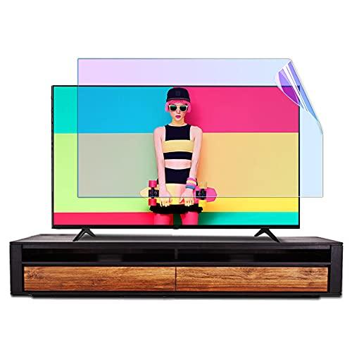WSHA Protector de TV 32'- 75' Mate Anti luz Azul Protector de Pantalla de TV Filtro Película Anti UV con lámpara de monitoreo de luz Azul, lo Ayuda a Dormir Mejor,65Inches(1429x804mm)