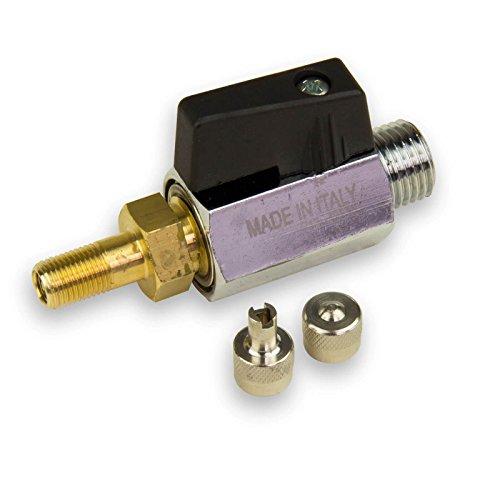 Speck Lufthahn Lufthähnchen 1/4 Zoll Belüftungsventil mit Autoventil für Heider Druckkessel Wassertank Zubehör
