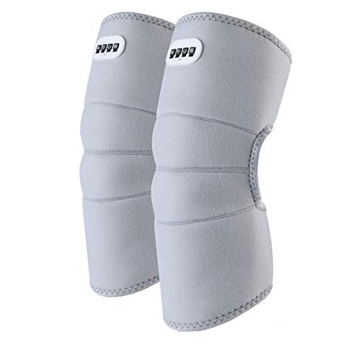 ZHZHUANG Rodilleras calientes calentadas para hombres y mujeres para calentar el dolor en las articulaciones, artritis rígida, se adapta a pantorrilla pierna brazo, gris
