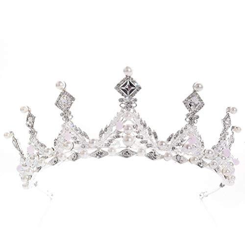 Brautfrisur, Perlen, Kristall, Strass, Krone, Tiara, Haarband