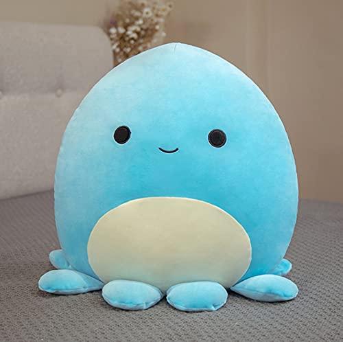 Giocattoli di peluche kawaii blu polpo, bambola abbraccio paffuto, cuscino morbido cuscino, per bambini regali di compleanno di Natale, 25 cm