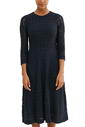 edc by ESPRIT Damen 037CC1E022 Kleid, Blau (Dark Blue 405), 34
