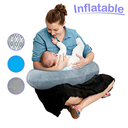 The Original Inflatable Nursing Pillow with Slipcover:...