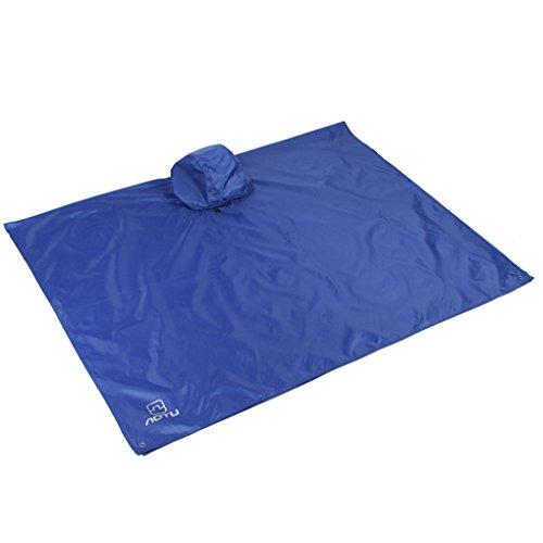 Qinghengyong 3 in 1 Multifunction Waterproof Raincoat Outdoor or rain poncho Waterproof Travel Poncho Jackets Backpack Rain Floor Mat for Aotu