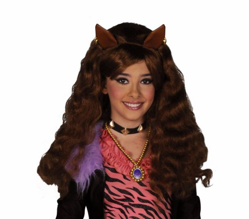 Cesar - Pe887 - Perruque licence monster high clawdeen wolf