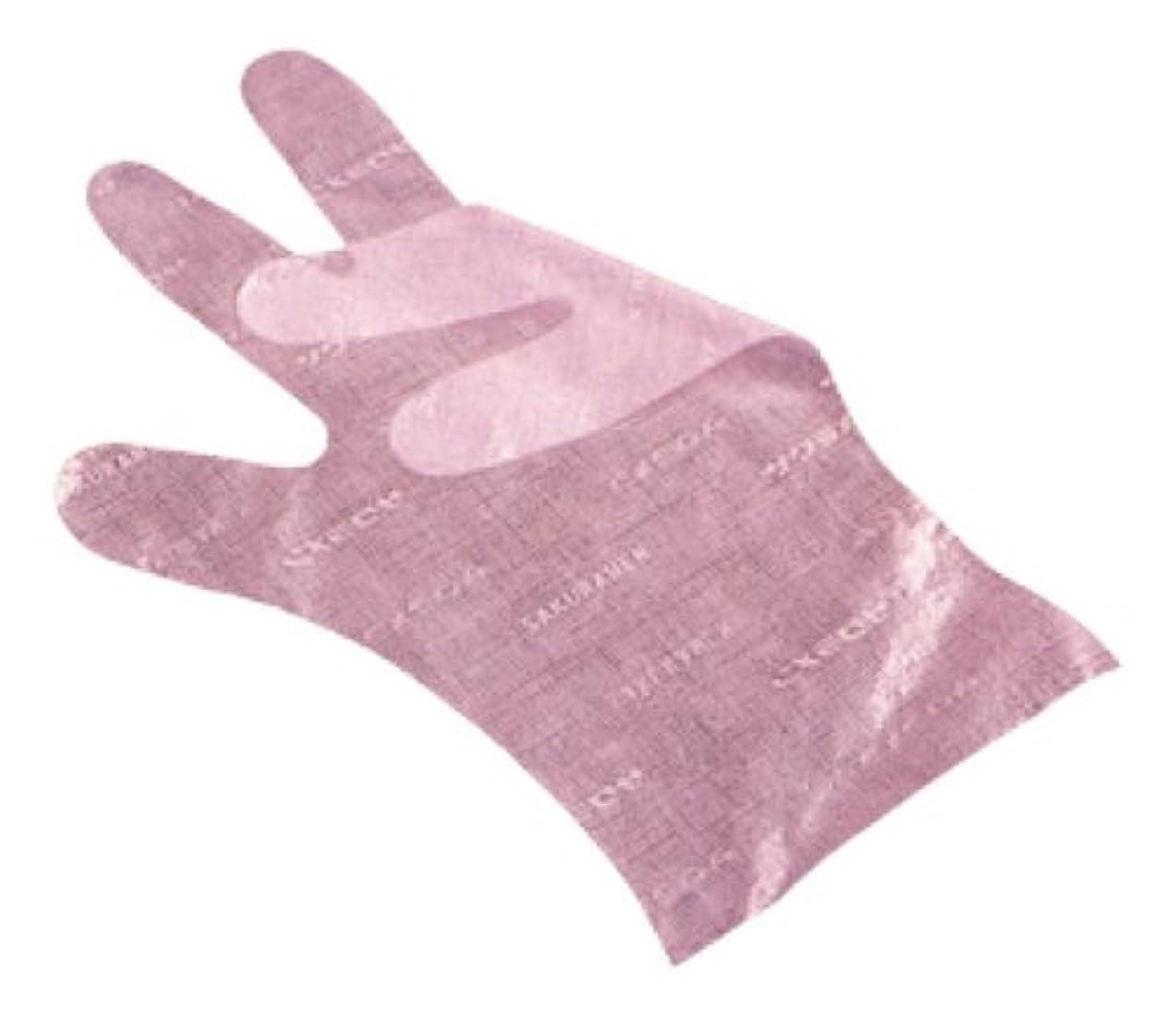 細菌タクト請求可能サクラメン手袋 デラックス(100枚入)L ピンク 35μ