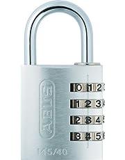 ABUS Cijferslot 145/40 zilver - hangslot van massief aluminium - met individueel instelbare cijfercode - 48814 - niveau 4