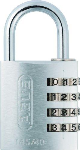 ABUS Zahlenschloss 145/40 Silber - Vorhängeschloss aus massivem Aluminium - mit individuell einstellbarem Zahlencode - 48814 - Level 4