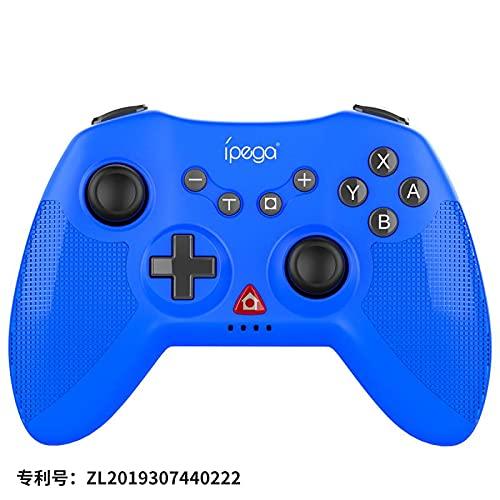 Controlador de gamepad sem fio com função vibratória de seis eixos para N-Switch / PS3 Galaxy S10 / S10 + Galaxy S20 S20 + 5G LG Oppo VIVO MI Android Smartphone Tablet (Win 7 e superior) Azul