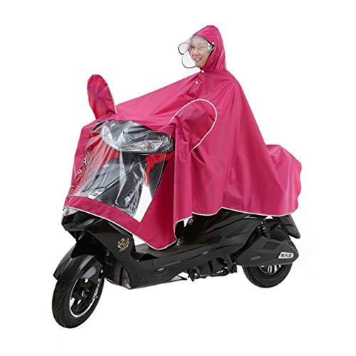 XGYUII Motorfiets Waterdichte Verlengde Poncho Met Reflecterende Strip Veilig Rijden Dubbele Hoed Brim Afneembare Siamese Regenjas Elektrische Scooter Motorfiets Grote Regen Kaap Jas